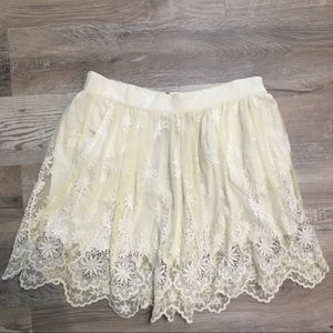ZARA Floral Lace Skirt Size Medium